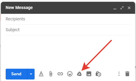 Gmail - 'Insert files using Drive' email button