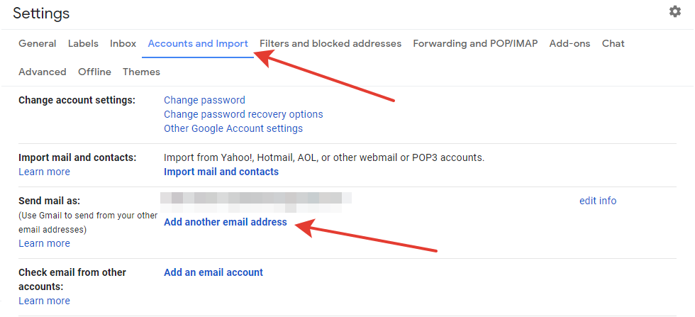 Gmail - add email button