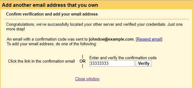 Gmail - email verification