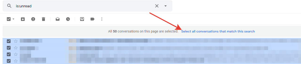 Gmail - select all conversations