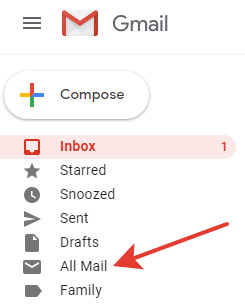 Gmail - All mail label